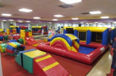 Shapes galore in our soft play room!